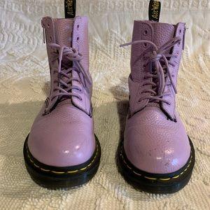 Dr. Martens Pastel Purple Leather boots